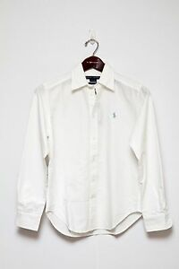 Ralph Lauren Women s Classic Fit Long-Sleeve Oxford Shirt in Size 4 ... 891eb54f8