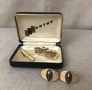 Vintage cufflinks set 1970 tie pin vintage wedding cufflinks 19mm 1970s neon orange cufflinks and tie tack vintage orange cufflinks set