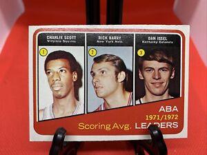 1972 / 73  TOPPS   SCORING AVG. LEADERS  1971/72  #259 Rick Berry, Charlie Scott