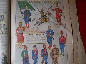 Corriere Dei Piccoli Originale Anni '30 L'esercito Turco Belle Et Charmante
