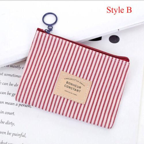 New Zipper  Clutch   Key  Change Bag Small Wallet Card Holder Canvas Coin Purse