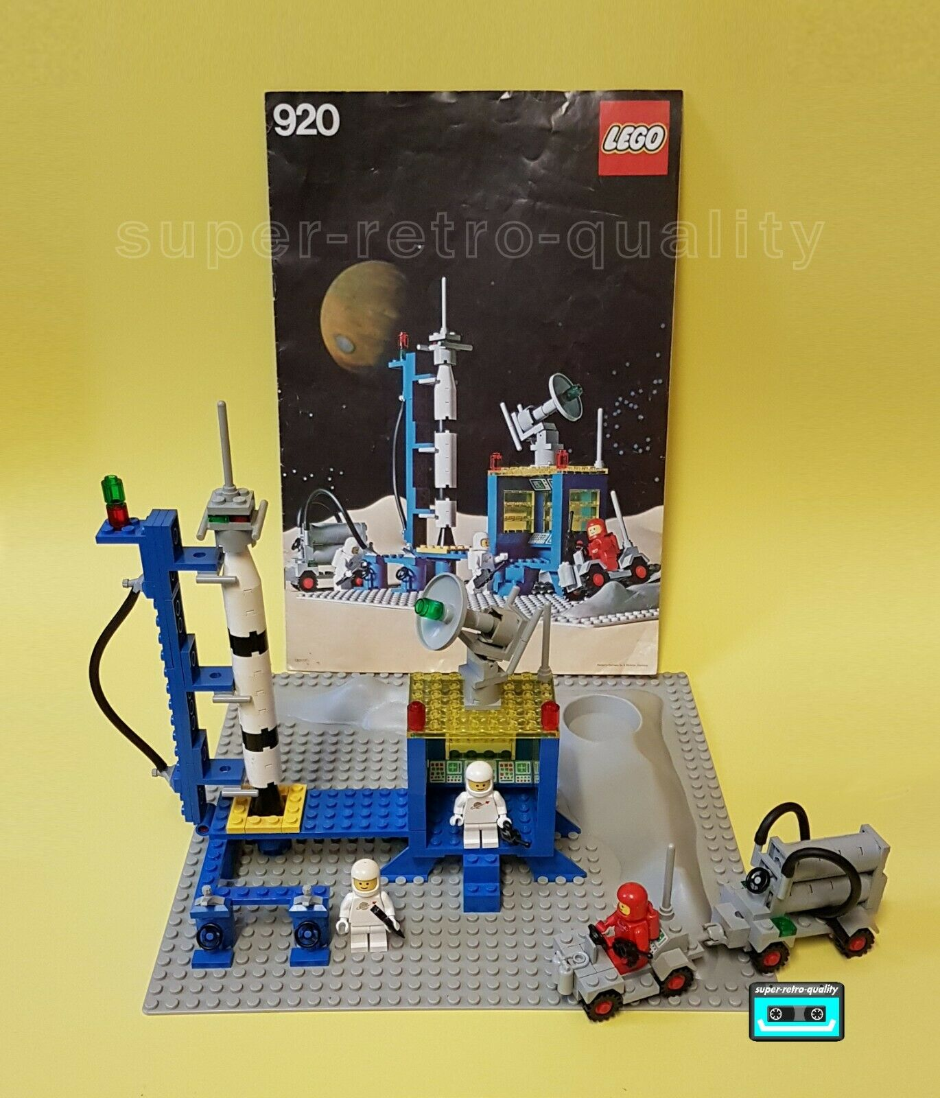 LEGO CLASSIC SPACE ALPHA 1 COMPLETE WITH ORIGINAL INSTRUCTIONS