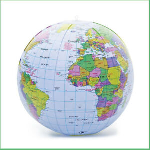 Bow up globe 40cm world map atlas earth education inflatable toy image is loading bow up globe 40cm world map atlas earth gumiabroncs Gallery