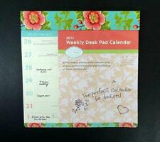 New Lily Ashbury 2012 Weekly Desk Pad Calendar Note Pad Doodlers