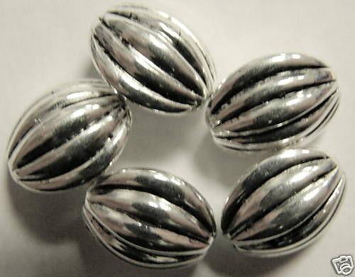5918-5 piezas de joyería voluminoso plateado 13 x 12 x 8 mm