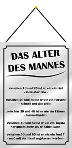 The Age of Man Tin Sign with Cord Metal 20 X 30 CM FA1276-K