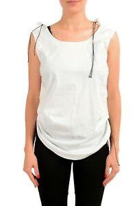 Maison-Margiela-1-Women-039-s-White-Sleeveless-Top-US-M-IT-42
