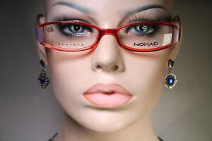 Ungetragen Nomad by Morel 870m Damen Schlank klar rubinrot und lila Brille Frames