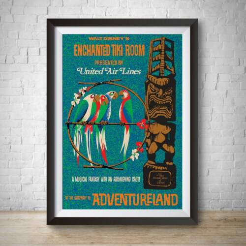 Enchanted Tiki Room Vintage Attraction Poster Print Adventureland