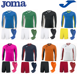 JOMA FOOTBALL FULL TEAM KIT SPORTS STRIP TRAINING SHIRTS MENS SOCKS LONG SLEEVE