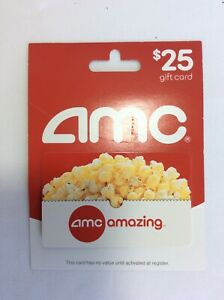 25 Amc Theaters Physical Gift Card Fast Ship Card Has Not Been Used Ebay