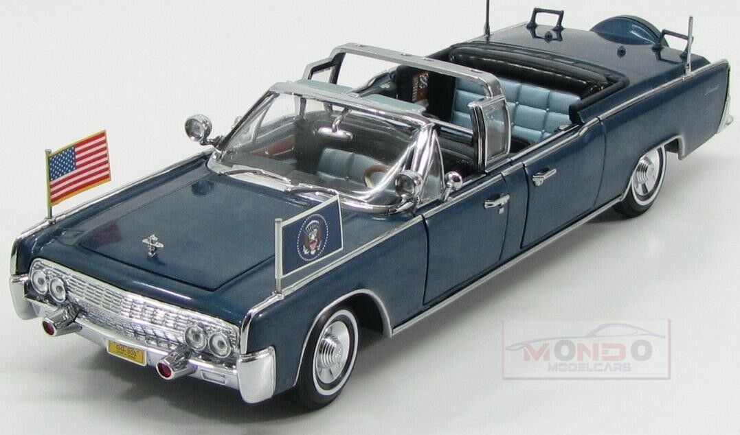 Lincoln X-100 Presidential Limousine Kennedy 1961 Lucky Diecast 1 24 LDC24048
