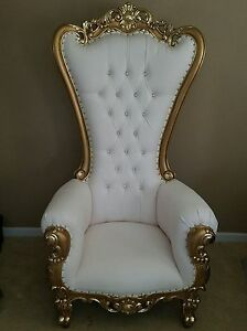 Astounding Details About Chair High Back Chair High Back Baroque Chair Queen Throne White W Gold Forskolin Free Trial Chair Design Images Forskolin Free Trialorg