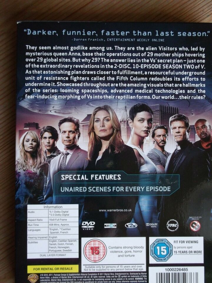V - The Complete Second Season 2 DVD, DVD, science fiction