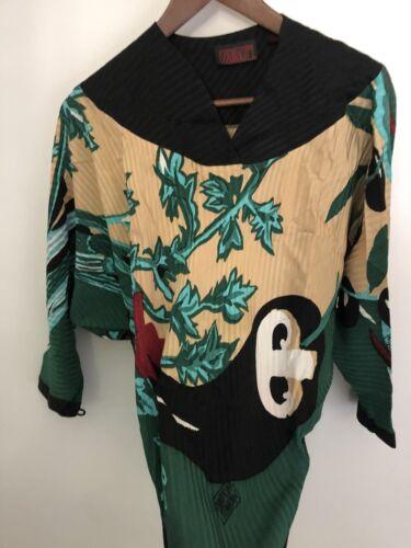 VTG MICHAELE VOLLBRACHT Silk Top Blouse Shirt Blac
