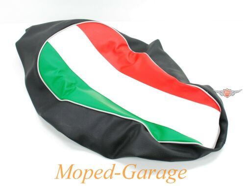 Piaggio Vespa 50 Sitzbank Bezug Italy Tri Colore Überzug mit Gummi Roller Neu*