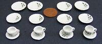 1:12 Scale 16 Piece Hand Painted Ceramic Tea Set Dolls House Miniature 27 Dining