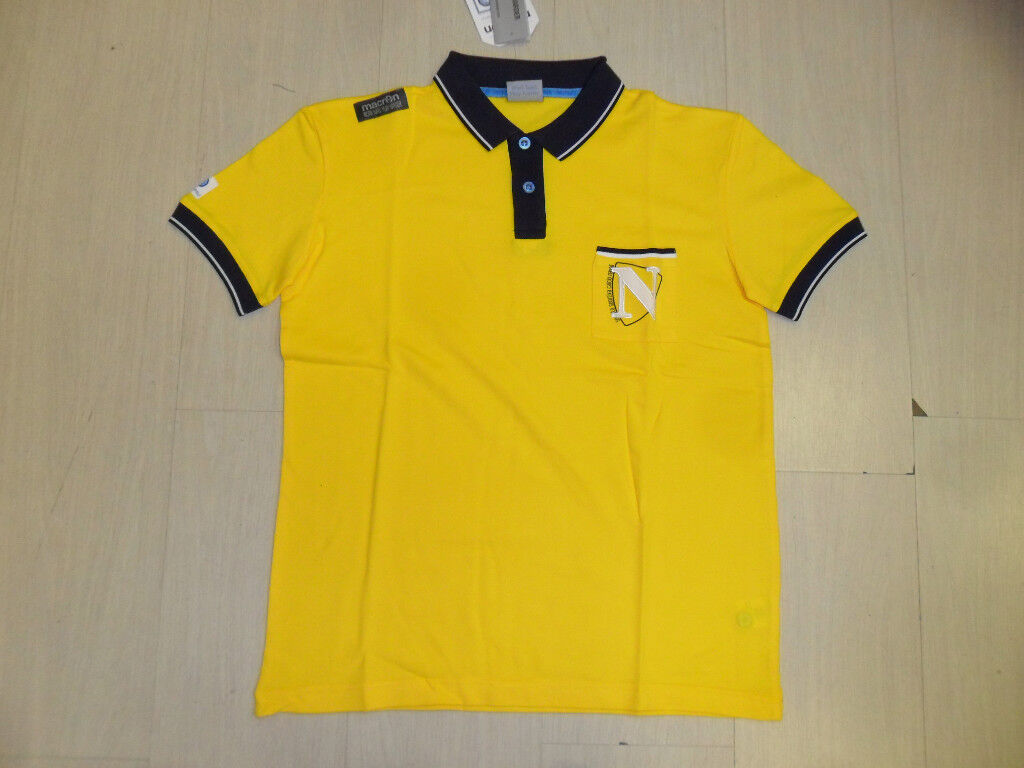 1580 NAPOLI FOOTBALL POLE COTTON SIZE SIZE M FREE TIME OFFIZIELL POLE YELLOW