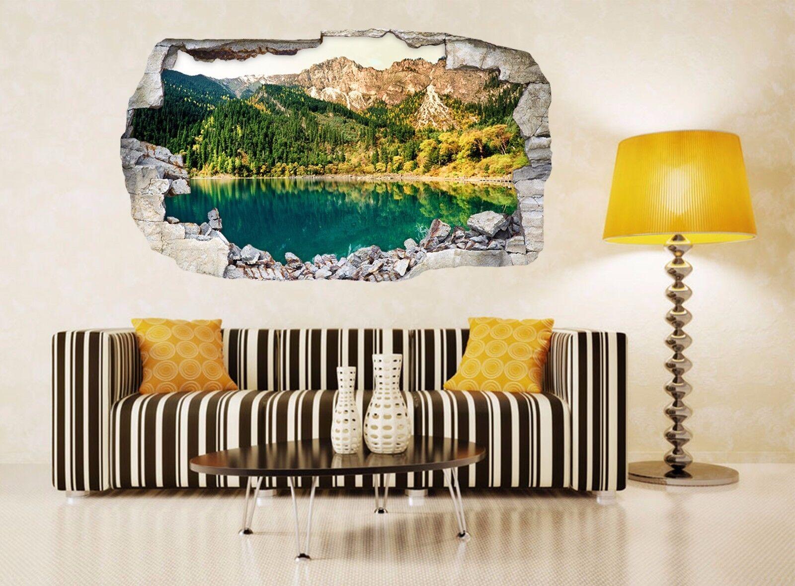 3D Bello Lago 17 Parete Murales Parete Adesivi Decal Sfondamento AJ WALLPAPER IT