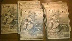 Lotto-di-12-Riviste-mensili-Patrie-e-Colonie-1913-Edit-Vallardi-L