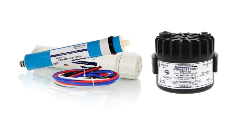 Membrane 100 GPD avec logement et pompe permeate ERP1000-Add on pour osmose inverse systèmes