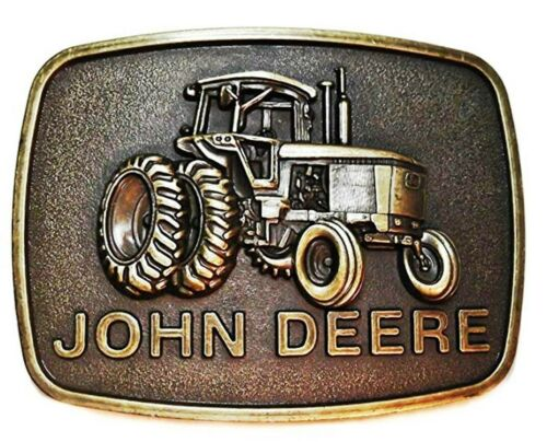 John Deere Tracteur Aspect Bronze Métal Boucle Ceinture