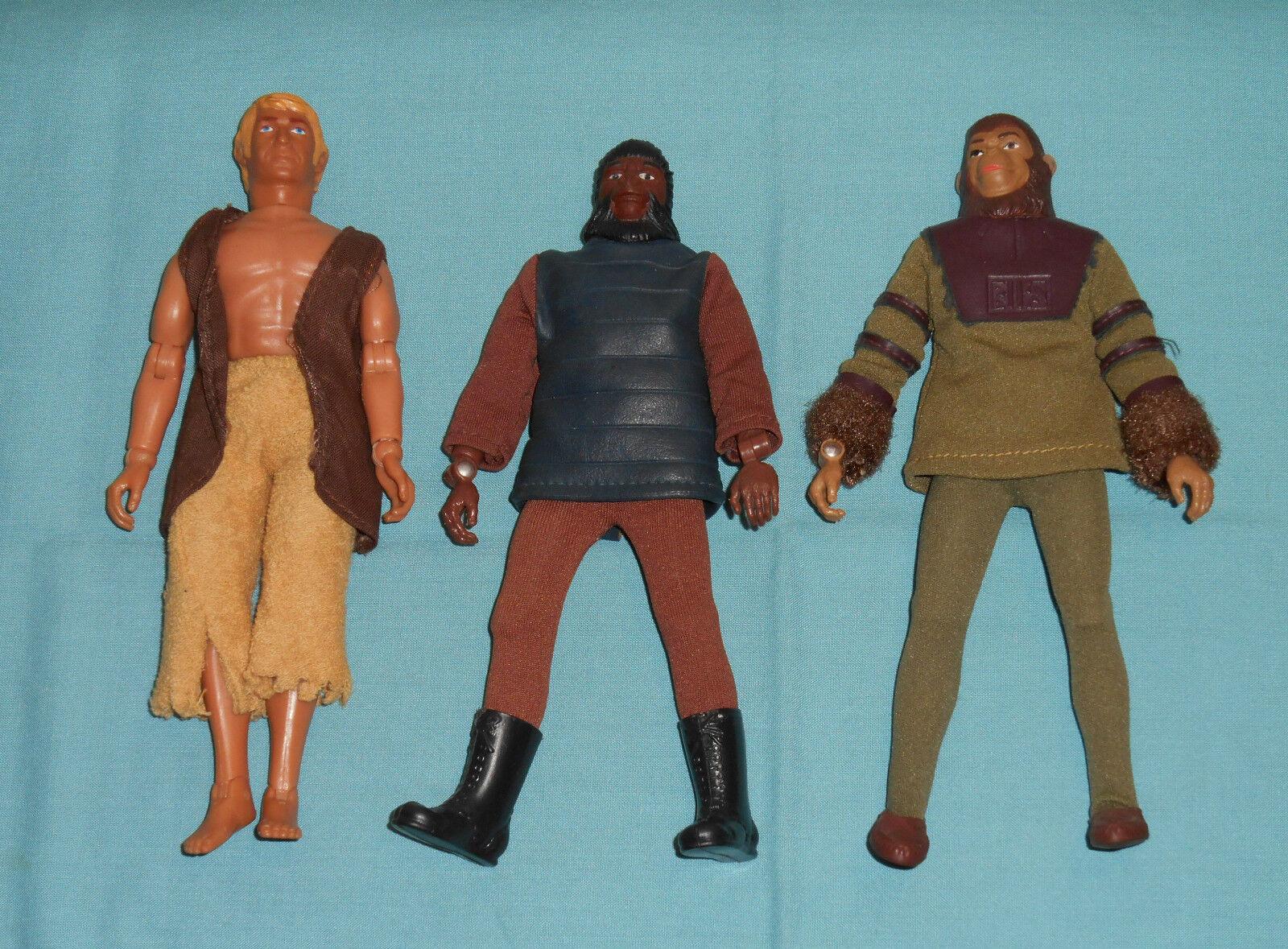 Vintage Mego Planet of the Apes pota SOLDIER APE & CORNELIUS & ALAN VERDON LOT