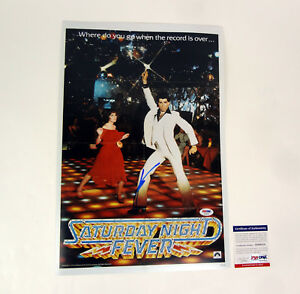 John-Travolta-Signed-Autograph-Saturday-Night-Fever-Movie-Poster-PSA-DNA-COA