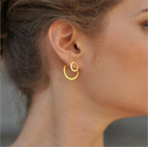 Simple-Women-Circle-Round-Ear-Studs-Earring-Minimalist-Gold-Earrings-Jewelry-New