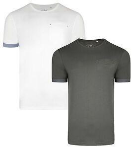 designer fashion 00a89 76196 Details about Ringspun New Men's Plain Clifton T-Shirts Cotton Plain Jersey  Tee Top