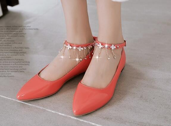 Ballerinaschuhe mokassins damenschuhe elegant Orange absatz 1.5 cm komfortabel