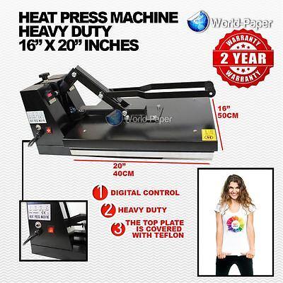 Heat Press Machine 16x20 1 Year Warranty Coated Heavy Duty Transfer Vinyl