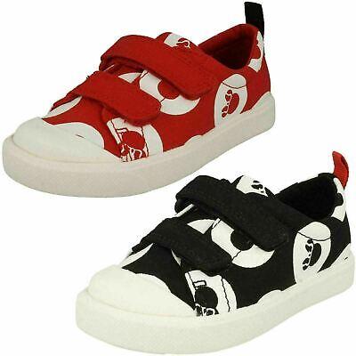 Clarks Filles Disney Minnie Mouse Chaussures Plates Toile 'Ville Pois Lo T '   eBay
