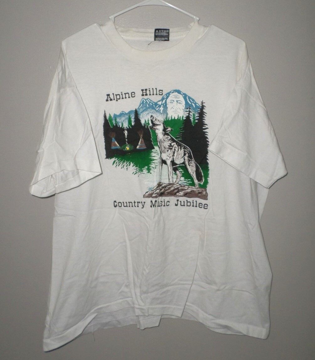 5ee3770c617acc ALPINE HILLS tee 2XL Country Music Jubilee 1995 Ohio T shirt XXL wolf  Sugarcreek