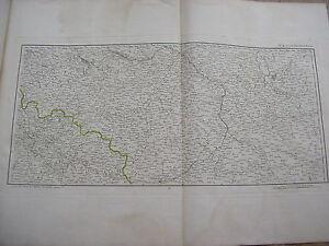 Karte Krakau-warschau Breslau Von Chanlaire Karte Antik Polen Schlesien Comfortable Feel Art