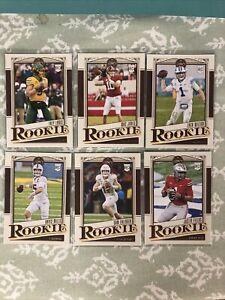 2021 Panini Legacy Football Quarterback Lot - 6 Cards Wilson,Jones,Fields,Lance!