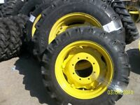 John Deere 3525 Two 14.9x28 Tractor Tires W/rims & Two 9.5x24 Tires W/rims