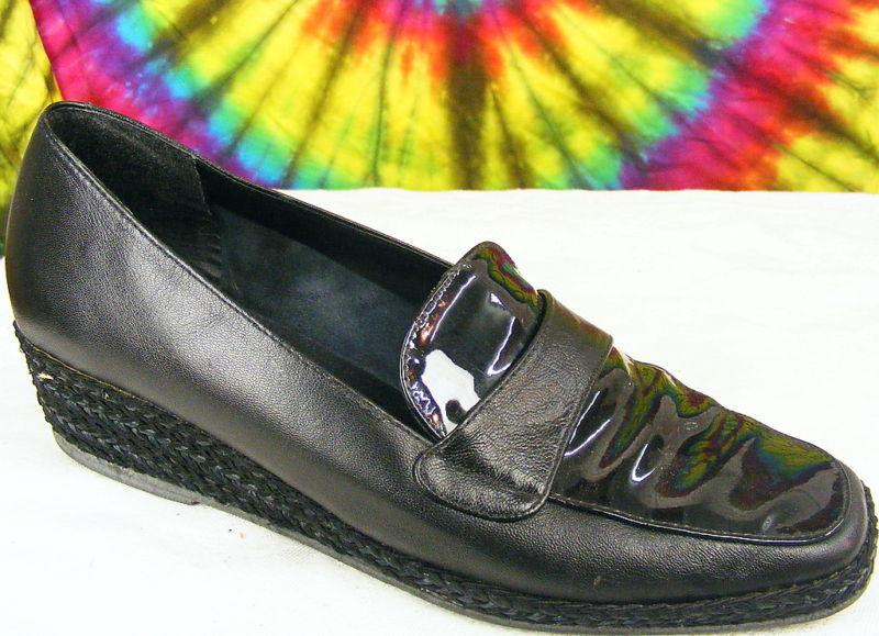 bellissima 7 C nero ANDRE ASSOUS wedge espadrilles espadrilles espadrilles loafers scarpe  ti renderà soddisfatto