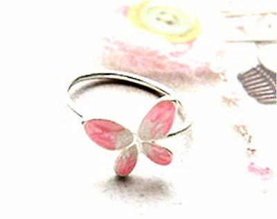 Adjustable oil spot butterfly ring different colours