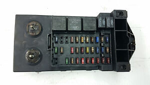 oem 97 02 ford expedition main fuse box assembly w diagram lid 4 6 image is loading oem 97 02 ford expedition main fuse box