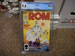 Rom 75 cgc 9.8 Marvel 1986 LAST ISSUE MINT WHITE pgs movie TV 1st print the end
