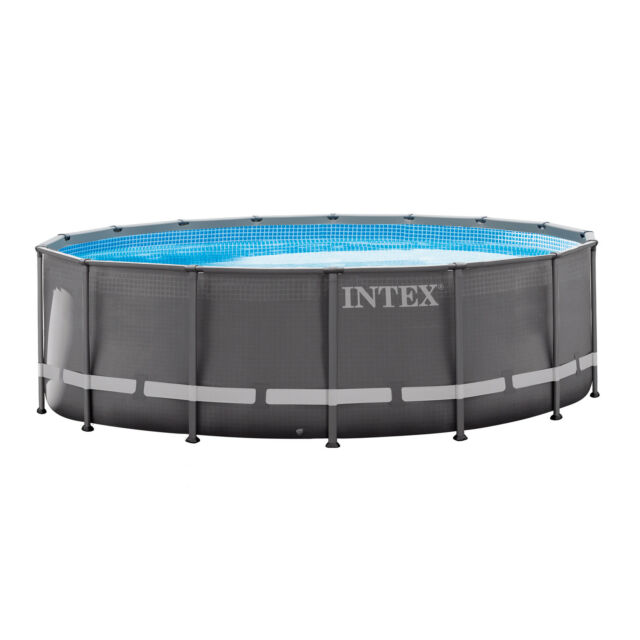 Intex 16ft X 48in Ultra Frame Pool Set With Sand Filter Pump Ladder Ground.