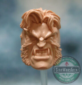 ML262-Sabretooth-Custom-Sculpt-Cast-head-use-w-6-034-Marvel-Legends