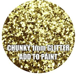 "100g CHUNKY AQUA BLUE GLITTER FOR WALLS ADD TO PAINT//VARNISH ADDITIVE .040"" 1mm"