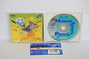 PC-Engine-SCD-HUMAN-SPORTS-FESTIVAL-with-SPINE-PCE-Grafx-Japan-Game-pe