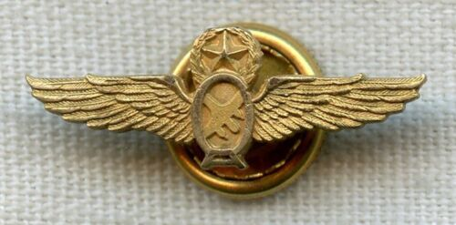 1950's GoldFilled Ozark Airlines Captain's Lapel Wing by Balfour