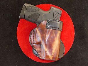 Taurus PT 111  molded  black leather hi rise holster