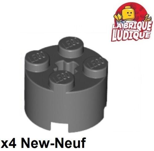 Lego 4x Mattoncini Rotondo Brick 2x2 Grigio Scuro//Dark Bluish Gray 3941 Nuovo
