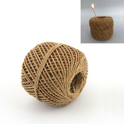 Dark 200ft Organic Beeswax Hemp Wick 100/% Organic Hemp Wick Well Coated with Natural Beeswax for Making Candles