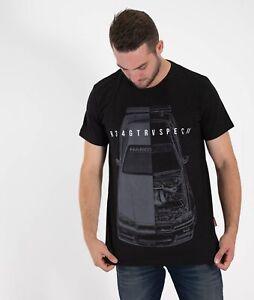 Nissan-Skyline-GTR-R34-Godzilla-Turbo-Drift-JDM-Mens-Split-Tee-Shirt-Black